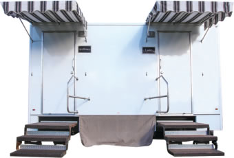 The 15' Fantastic Portable Restroom Trailer