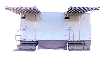 The 18' Fantastic Portable Restroom Trailer