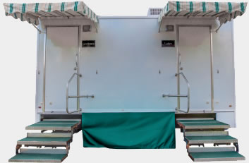 The 15' Cottage Portable Restroom Trailer