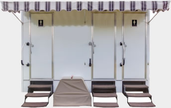 The 14' Porta Lisa Portable Restroom Trailer