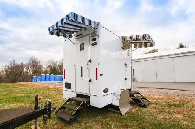 The 8' Commercial Portable Restroom Trailer