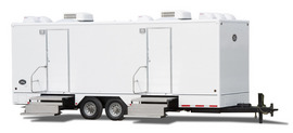 The 18' Commercial Portable Restroom Trailer